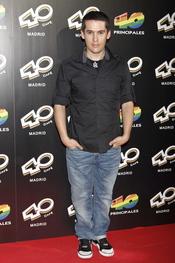 Jorge Ruiz del grupo 'Maldita Nerea' en la inauguración del '40 Café' en Madrid