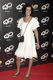 Blanca Romero en la inauguración del '40 Café' en Madrid