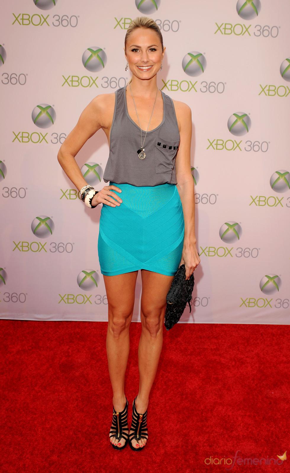 Stacy Keibler en en lanzamiento de 'Project Natal' para Xbox