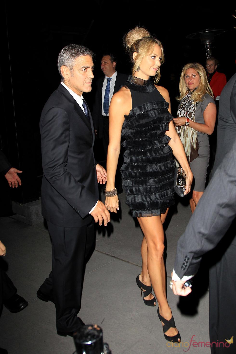Stacy Keibler y George Clooney, juntos en Toronto