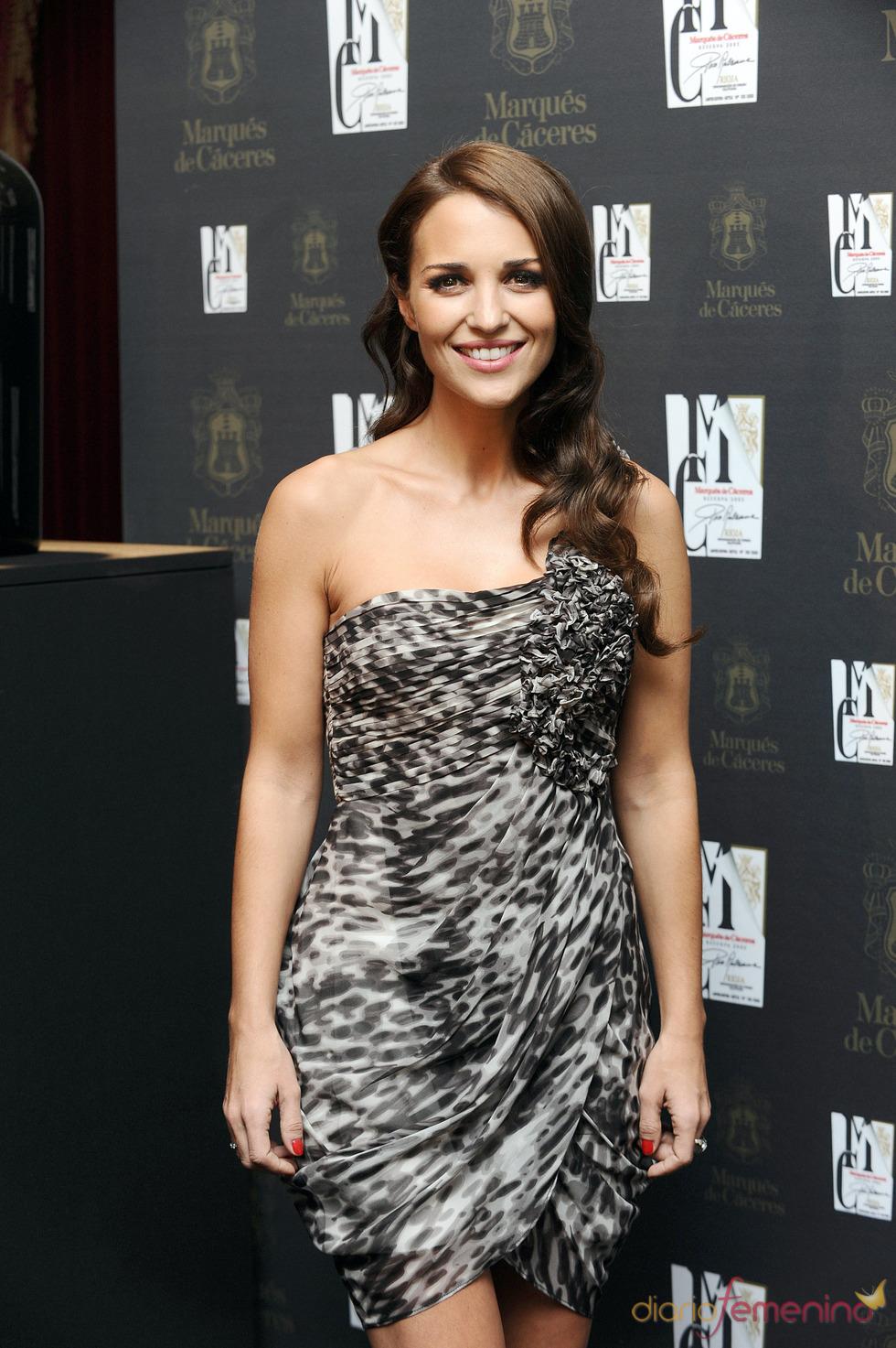 Paula Echevarría con vestido 'animal print'