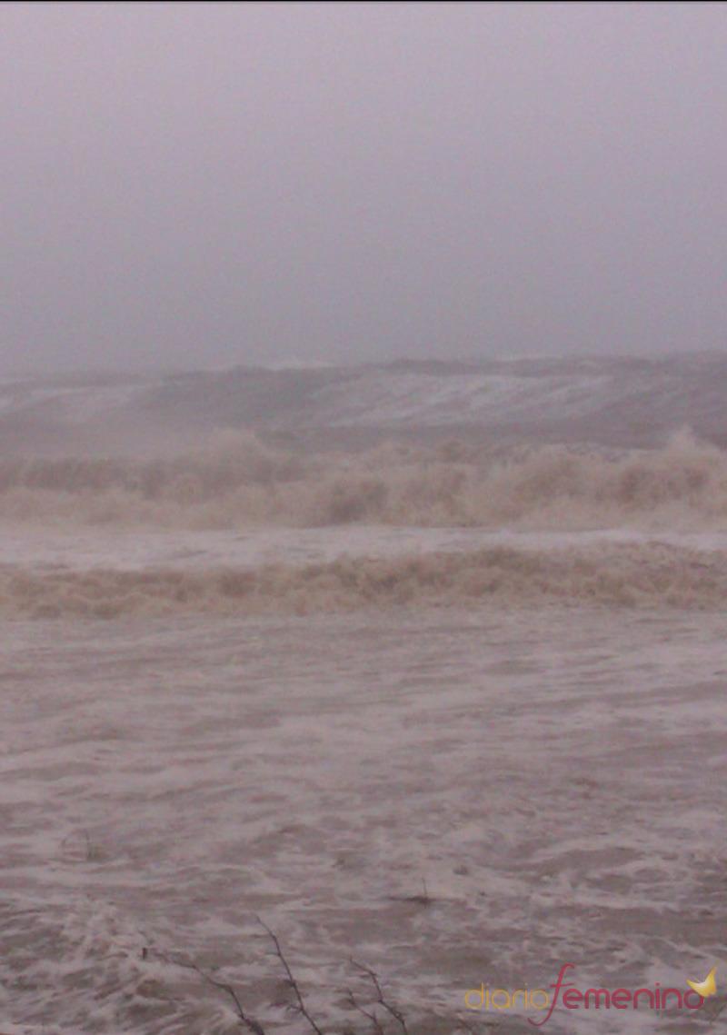 El huracán Sandy en el mar