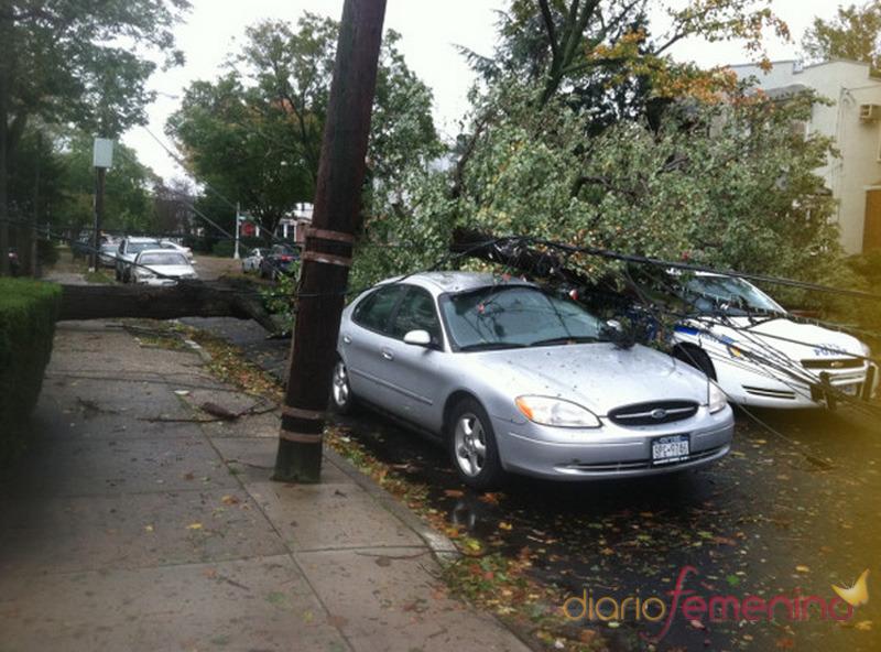 Calles inundadas en Nueva York por el huracán Sandy