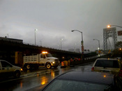 La isla de Manhattan aislada por el huracán Sandy