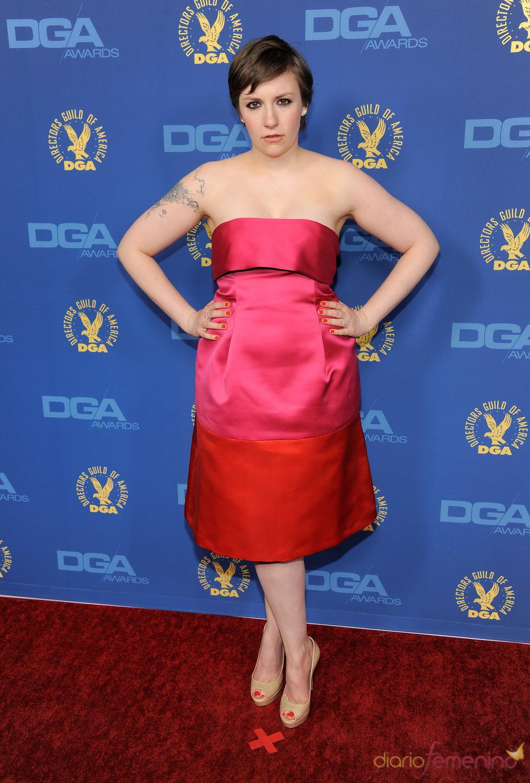 Lena Dunham en los premios del Sindicato de directores 2013