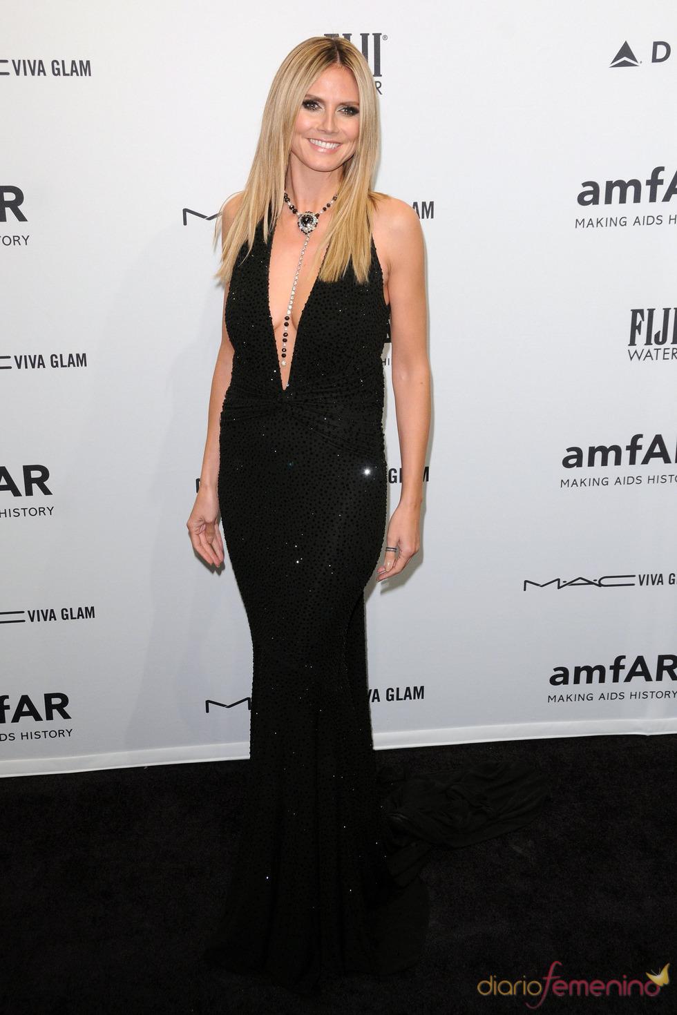 Heidi Klum en la gala de amfAR