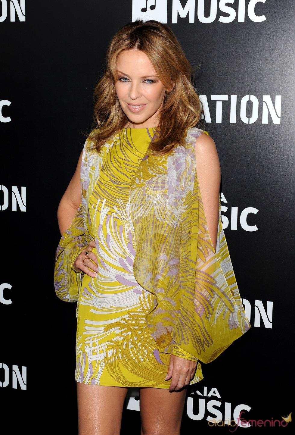 Kylie Minogue en la fiesta de RocNation pre Grammy 2013