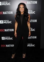Christina Milian en la fiesta de RocNation pre Grammy 2013