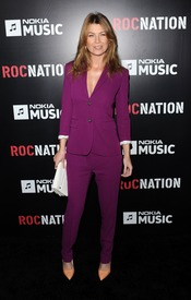 Ellen Pompeo en la fiesta de RocNation pre Grammy 2013