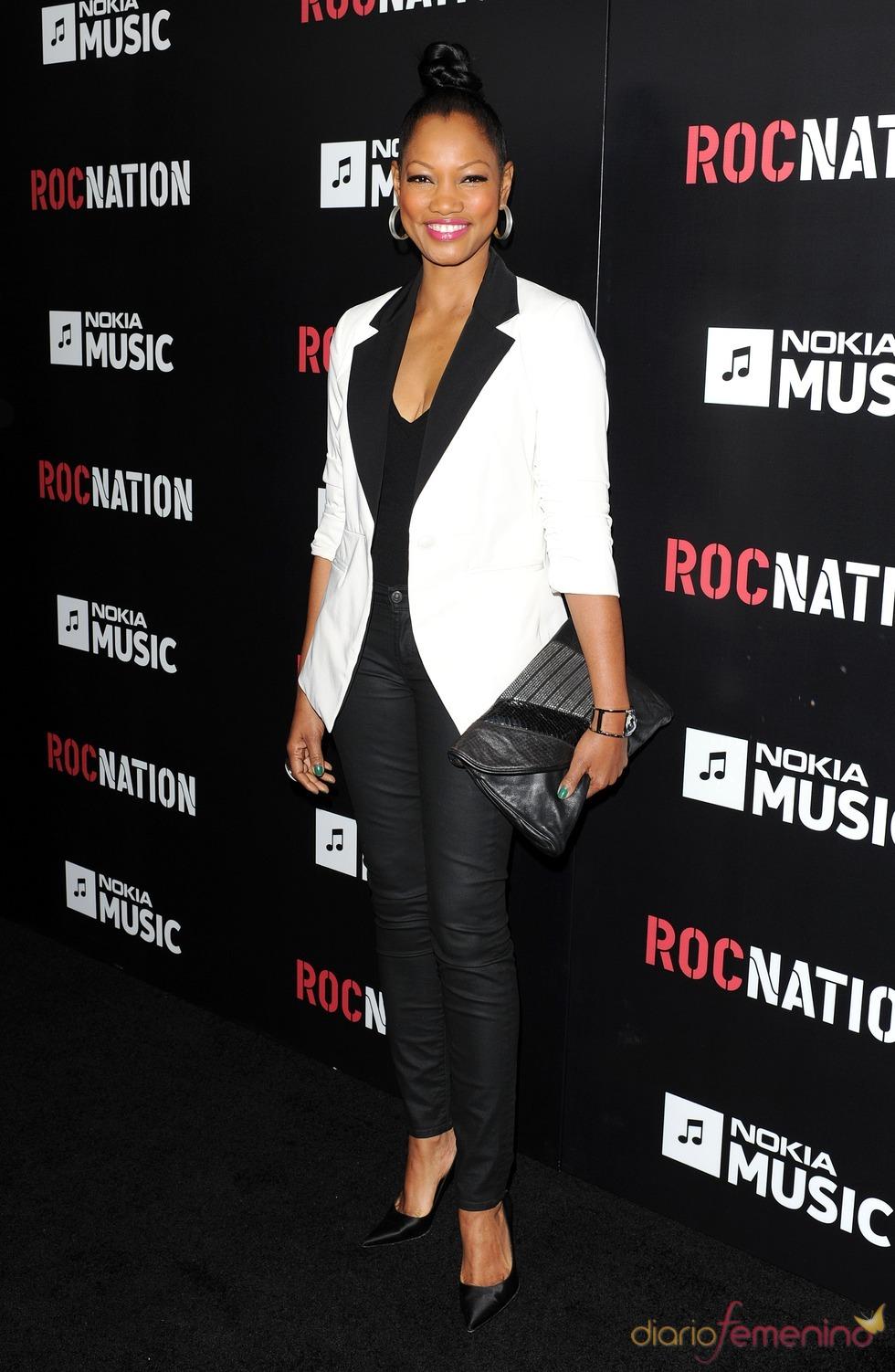 Garcelle Beauvais en la fiesta de RocNation pre Grammy 2013