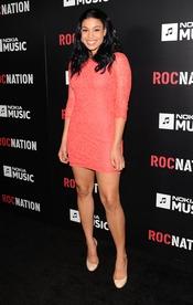 Jordin Sparks en la fiesta de RocNation pre Grammy 2013
