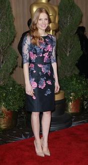 Jessica Chastain con estampado floral