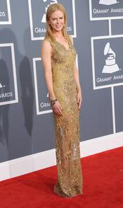 Nicole Kidman durante la gala de los Grammy 2013