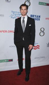 Matt Bomer antes de su actuación en la obra 8 en Los Ángeles en 2012
