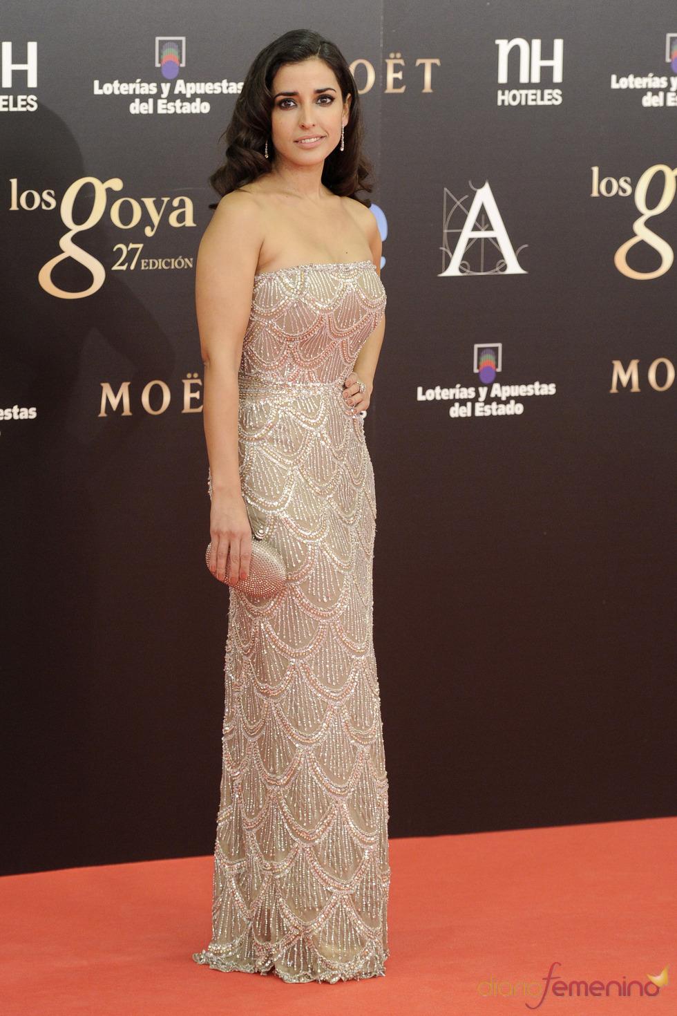 Inma Cuesta en la alfombra roja de los Goya 2013