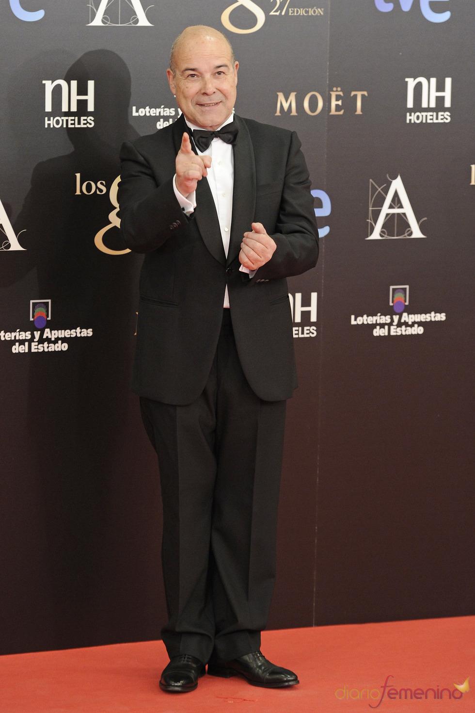 Antonio Resines en la alfombra roja de los Goya 2013