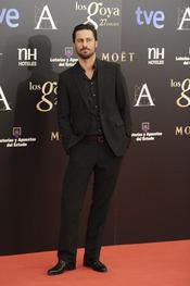 Hugo Silva en la alfombra roja de los Goya 2013