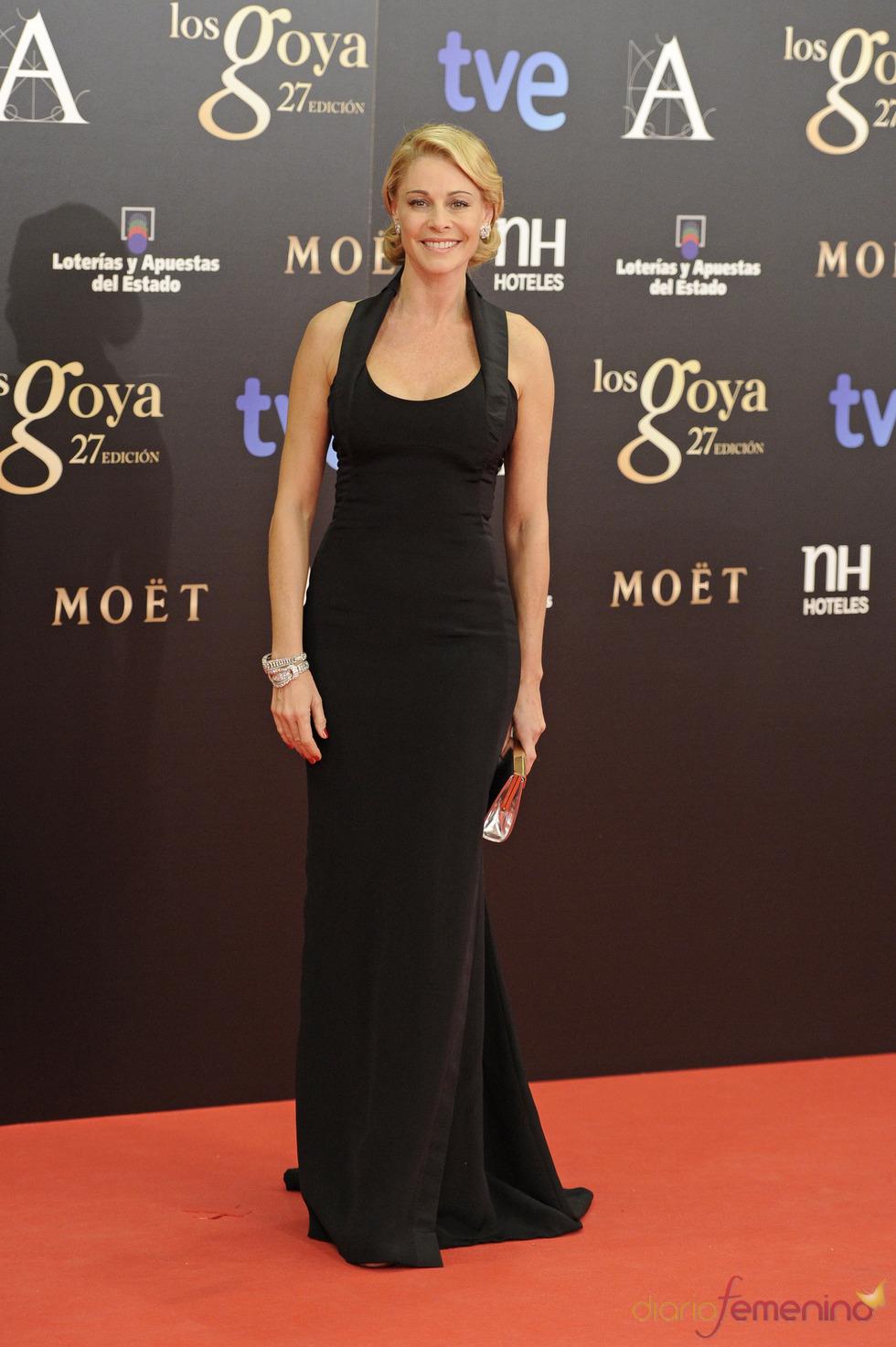 Belén Rueda en la alfombra roja de los Goya 2013