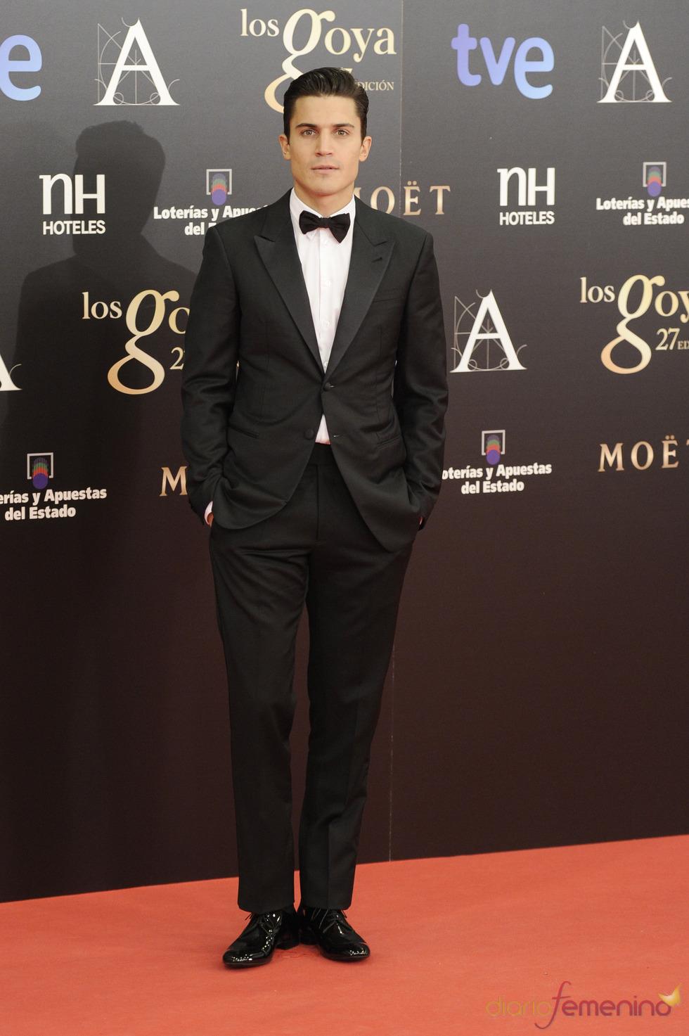 Alex González en la alfombra roja de los Goya 2013