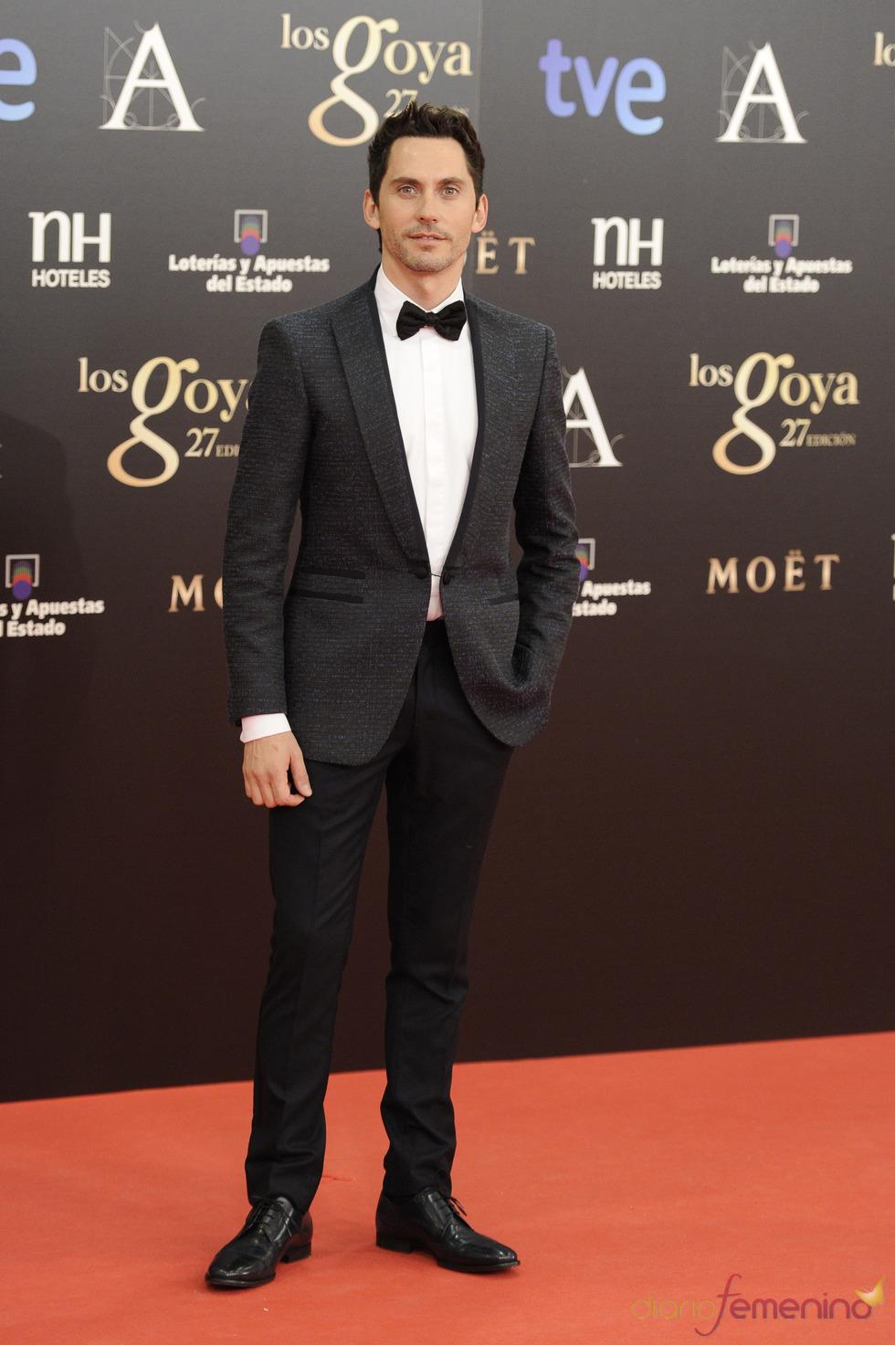 Paco León en la alfombra roja de los Goya 2013