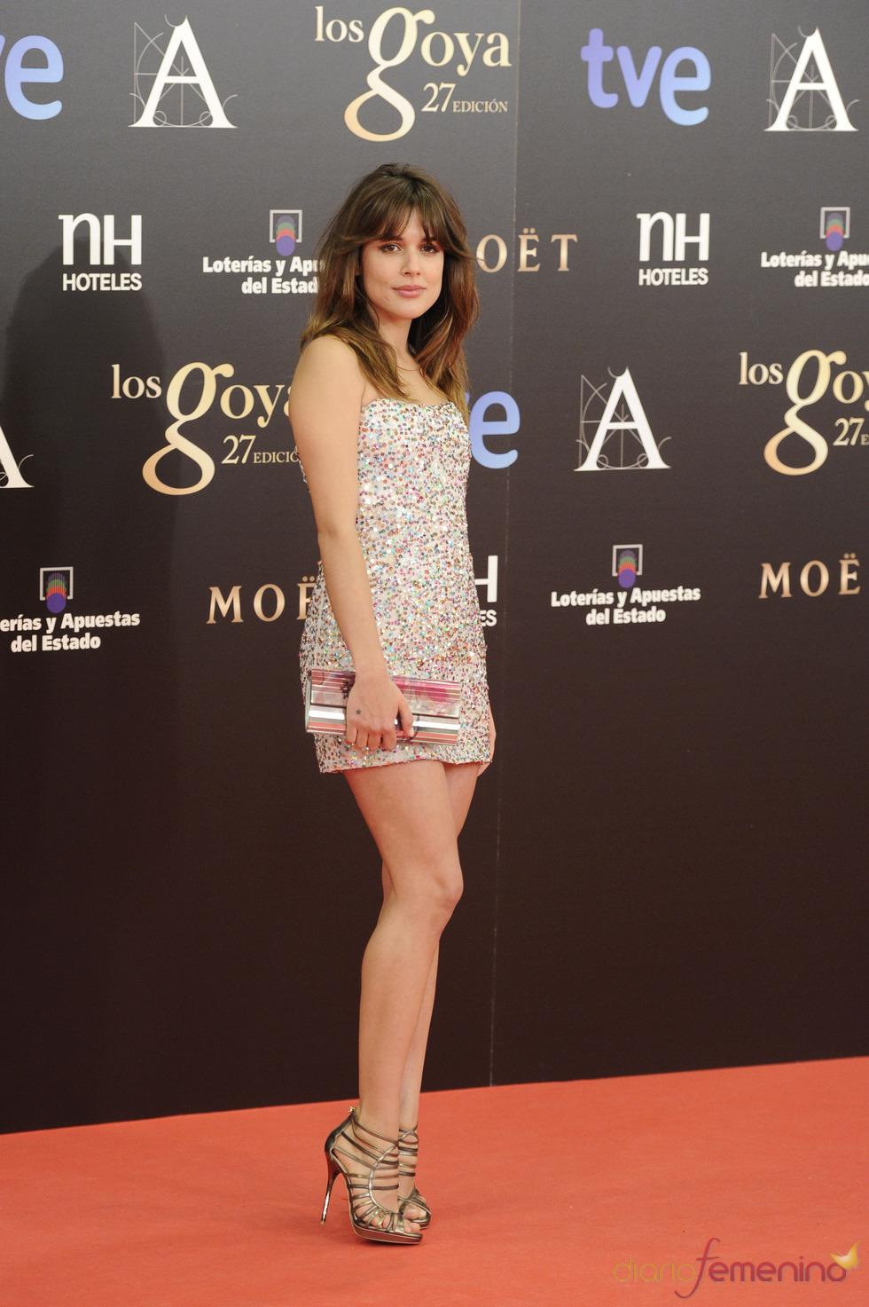 Adriana Ugarte en la alfombra roja de los Goya 2013