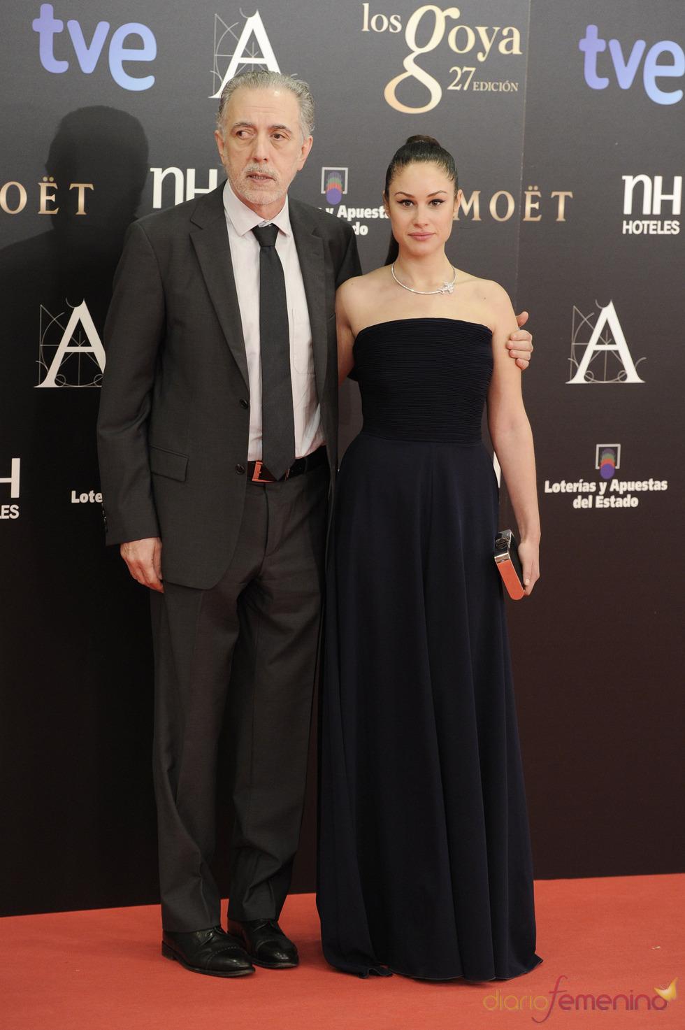 Fernando Trueba y Aida Folch en la alfombra roja de los Goya 2013
