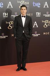 Álex González en la alfombra roja de los Goya 2013