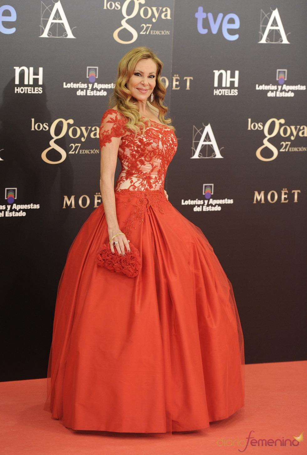Ana García Obregón en la alfombra roja de los Goya 2013
