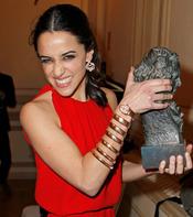 Macarena García en la fiesta posterior a los Goya 2013