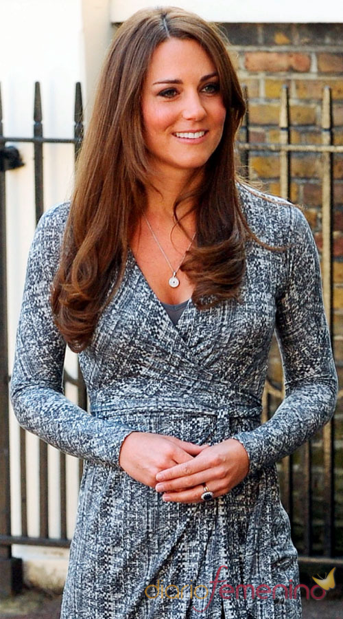 Kate Middleton, embarazada y radiante