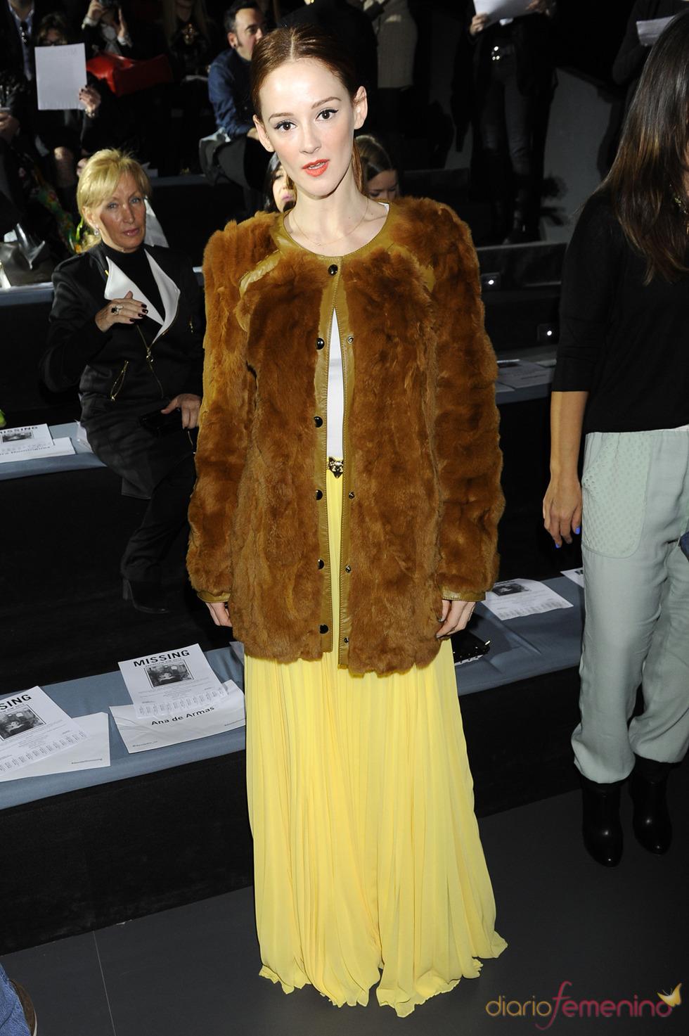 Ana María Polvorosa en el desfile de David Delfín en la Cibeles Madrid Fashion Week 2013
