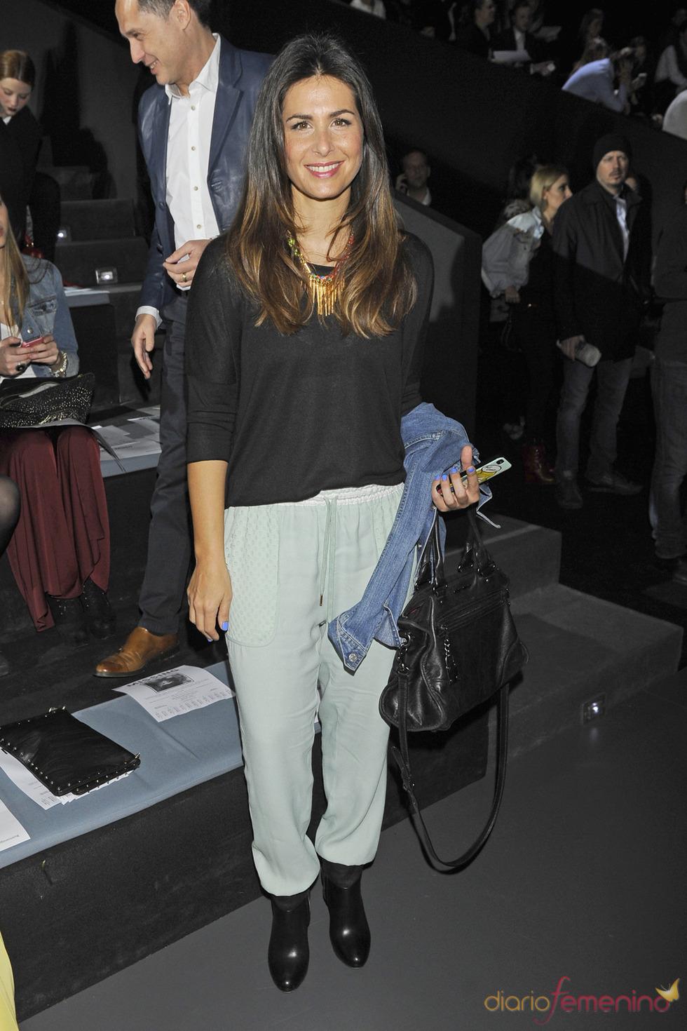 Nuria Roca en el desfile de David Delfín en la Cibeles Madrid Fashion Week 2013