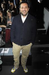 Pepón Nieto en el desfile de David Delfín en la Cibeles Madrid Fashion Week 2013