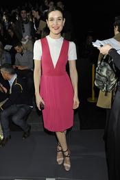 Raquel Sánchez Silva en el desfile de David Delfín en la Cibeles Madrid Fashion Week 2013