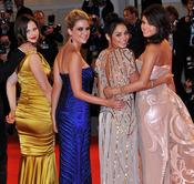 Las protagonistas de Spring Breakers posan en la alfombra roja del festival de Venecia