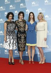 Las protagonistas de Spring Breakers posan durante la presentación en Venecia