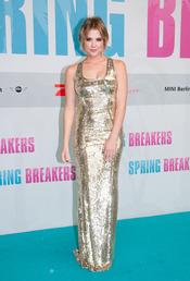 Ashley Benson, protagonista de Spring Breakers posa durante la presentación en Berlin