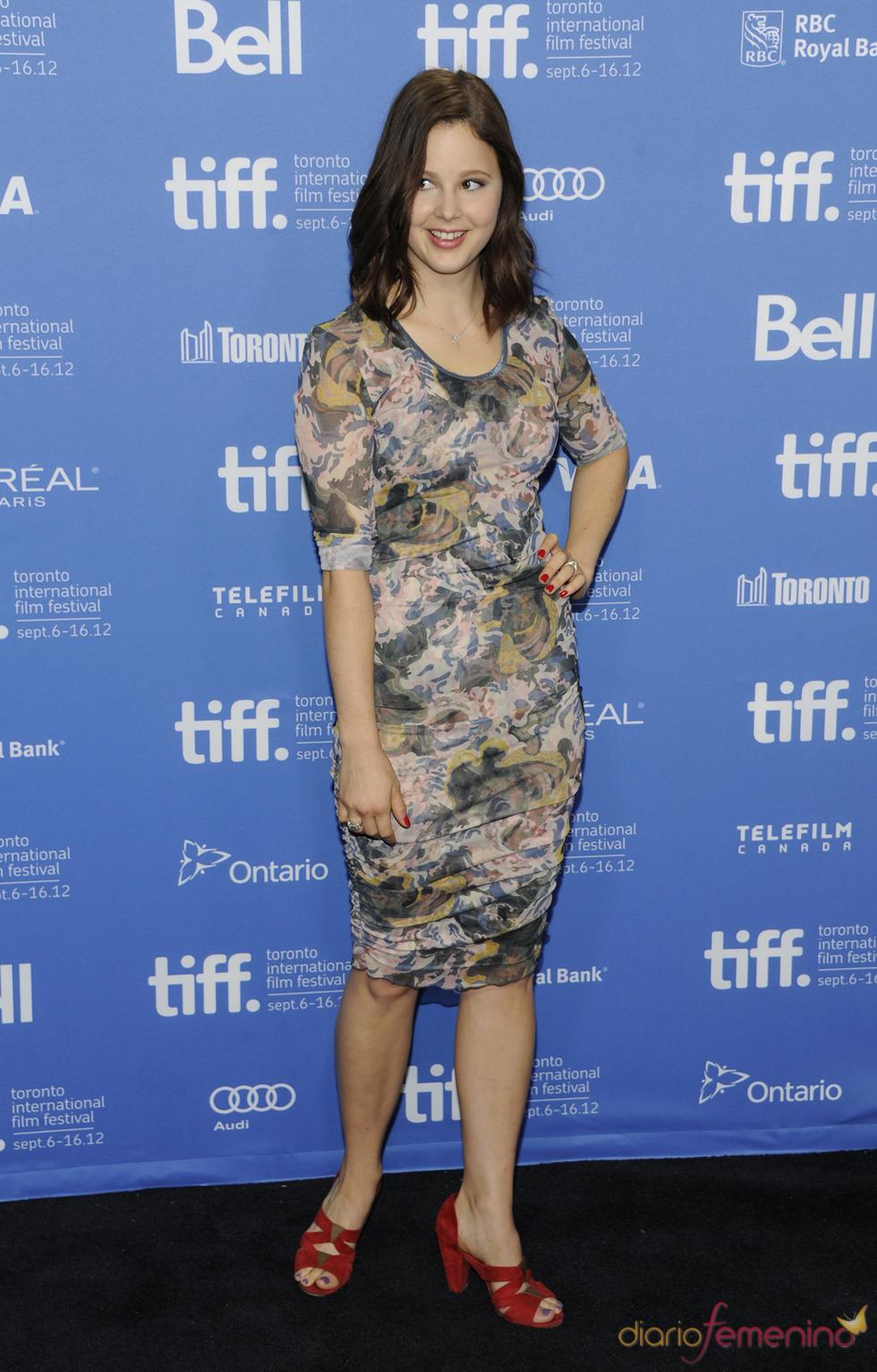 Rachel Korine, protagonista de Spring Breakers posa durante la presentación en Toronto