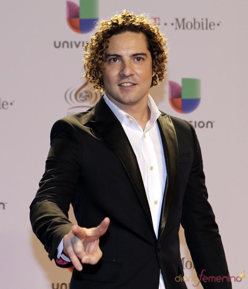 David Bisbal en la alfombra roja de Lo Nuestro 2013