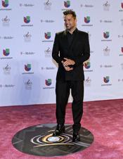 Ricky Martin en la alfombra roja de Lo Nuestro 2013