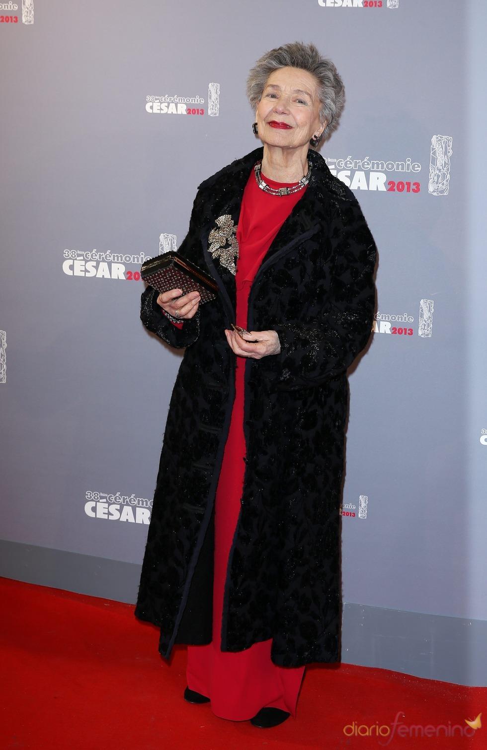 Emmanuelle Rivas en la alfombra roja de los César 2013