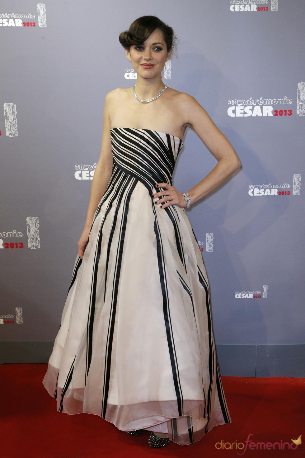 Marion Cotillard en la alfombra roja de los César 2013