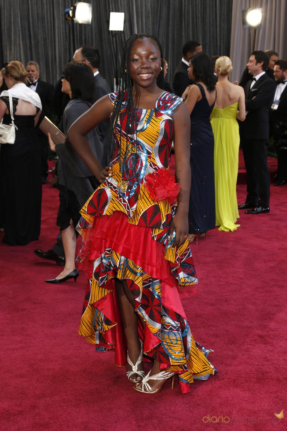 La actriz Rachel Mwanza en los Oscars 2013