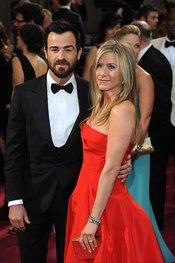 Jennifer Aniston y Justin Theroux juntos en los oscars 2013