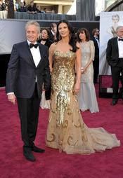 Michael Douglas y Catherine Zeta-Jones juntos en los Oscars 2013