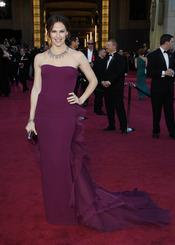 Jennifer Garner en la alfombra roja de los Oscars 2013