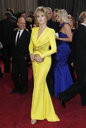 Jane Fonda en la alfombra roja de los Oscars 2013