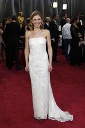 La actriz Lucy Alibar en la alfombra roja de los Oscars 2013