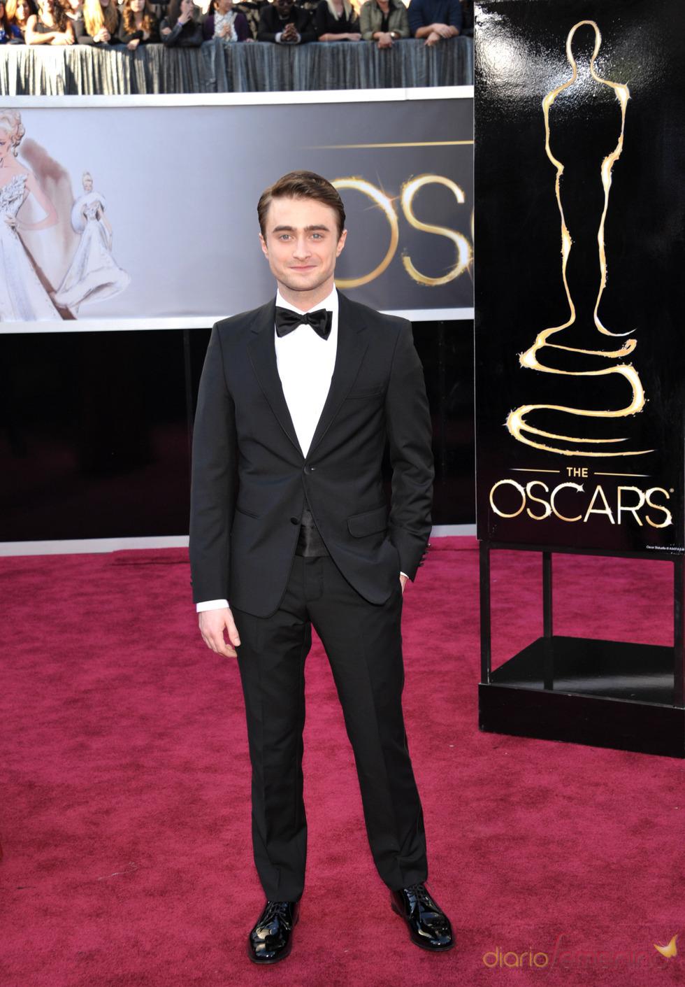 Daniel Radcliffe en la alfombra roja de los Oscars 2013