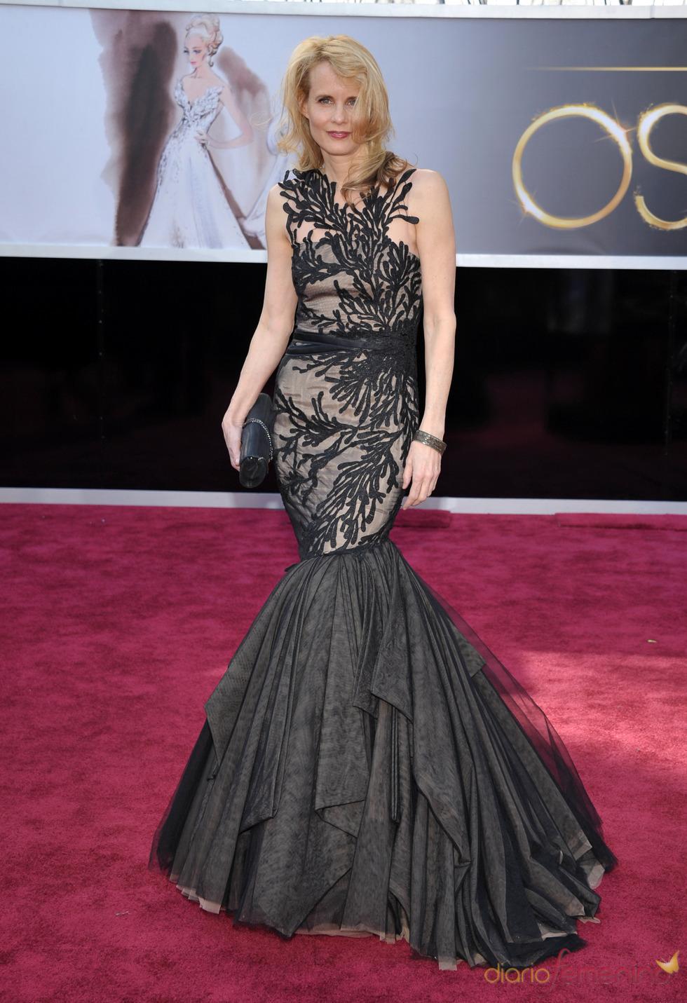Daryl Hannah en la alfombra roja de los Oscars 2013